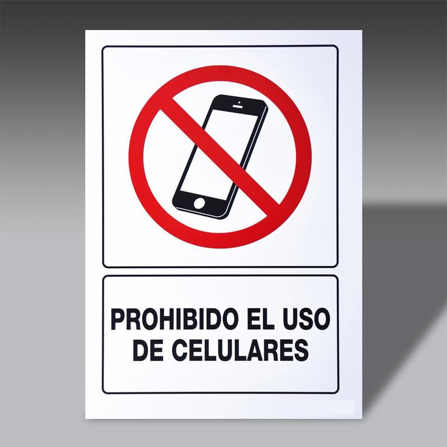 letreros prohibicion para la seguridad industrial LP CEL letreros prohibicion de seguridad industrial modelo LP CEL